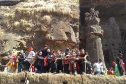 COLLEGE PICNIC TO KARLA CAVES
