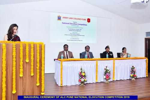 Inaugural Ceremony of ALC Pune National Elocution Competition 2019